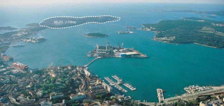 Chorvatsko chce z poloostrova Muzil u Puly nové letovisko