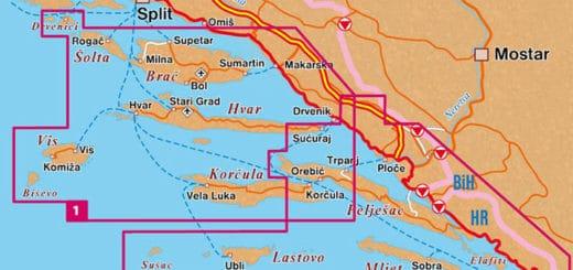 cyklomapy Chorvatska