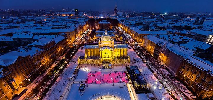 Nejlepší evropskou vánoční destinací je znovu Zagreb