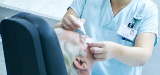 Vyšetření zraku v přerovské nemocnici