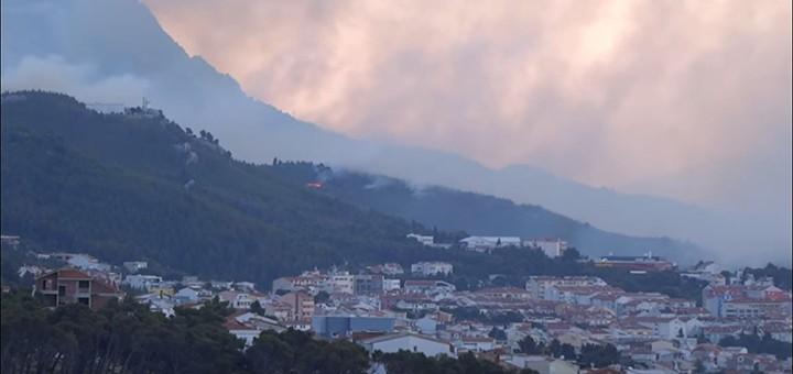 Na Makarské bojovali s požárem lesa