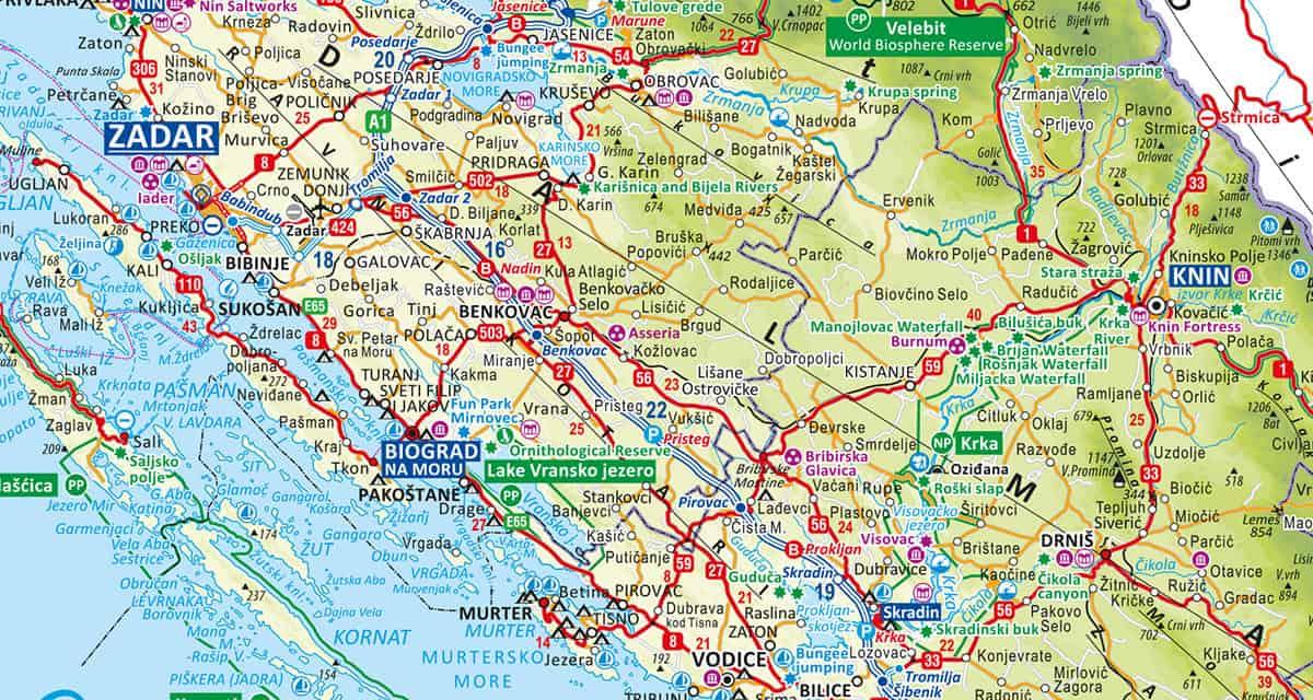 Stáhněte si kvalitní mapu Chorvatska
