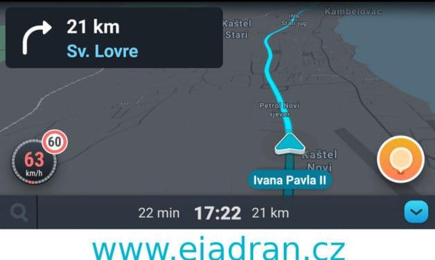 Jeďte do Chorvatska s navigací Waze