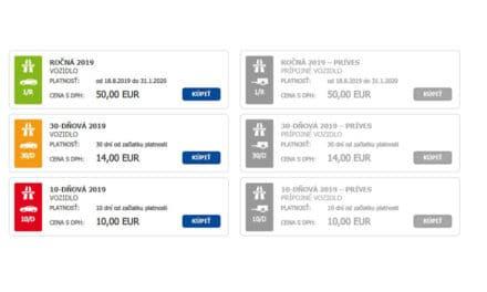 Jak koupit na internetu slovenskou dálniční známku