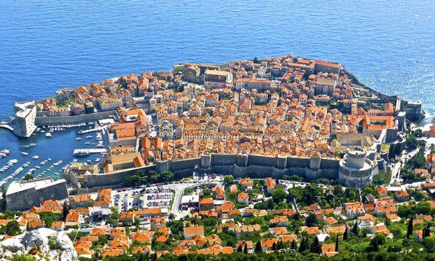 Chorvatský Dubrovník z dronu