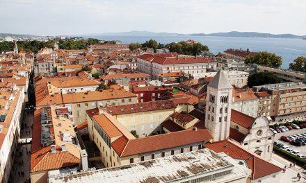 Chorvatský Zadar z dronu